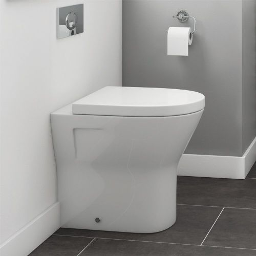 Marbella Comfort Height 425mm Back To Wall Pan inc Soft Close Seat
